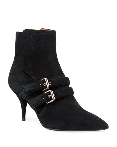 Easton Suede Buckle Booties