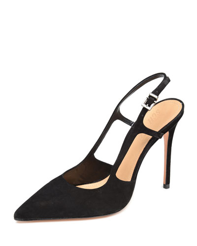 Boris Suede Slingback Pumps