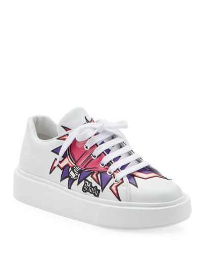 Graphic Heart Platform Sneakers