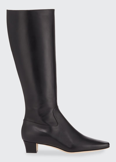 Theseus Leather Knee Boots