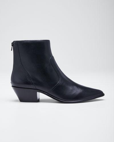 Joni Leather Western Booties