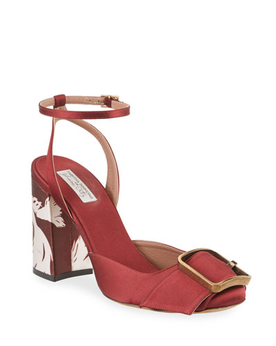 Serena Satin Ankle Sandals