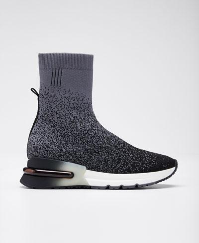 Kory Pixel-Print Sock Sneakers