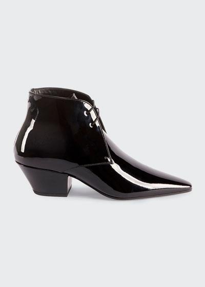 Belle Shiny Lace-Up Dress Shoes