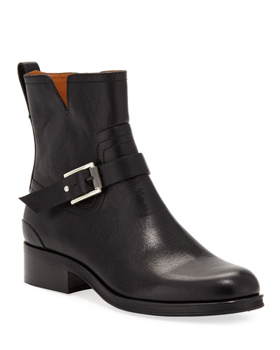 Abel Short Leather Moto Boots