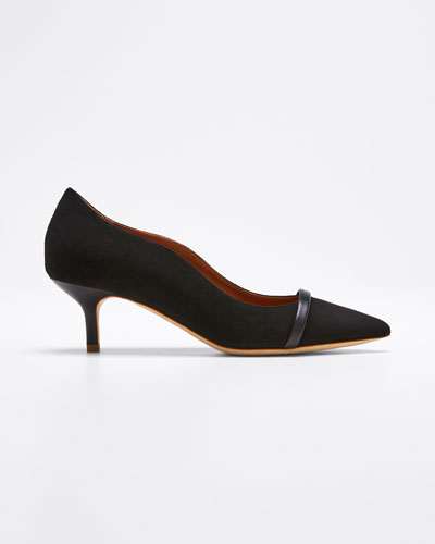 Maybelle 45mm Scalloped Suede Pumps