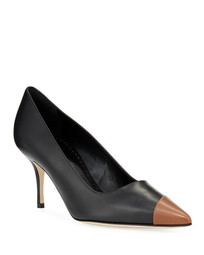 Sonia Two-Tone Leather Pumps