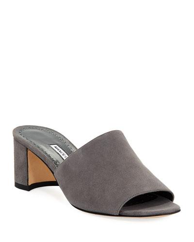 Rapallato Suede Slide Sandals