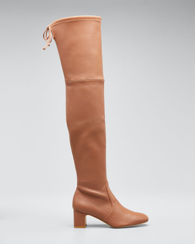 Kirstie 60mm Napa Leather  Over-The-Knee Boots