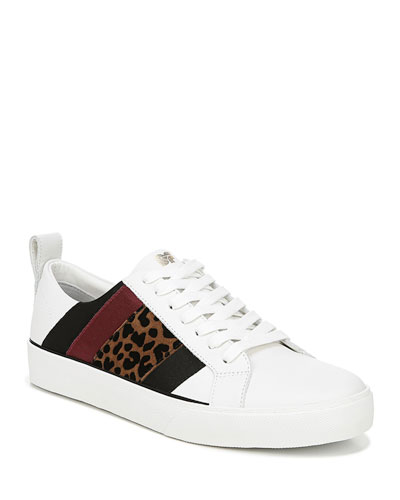 Tess Leather Striped Sneakers
