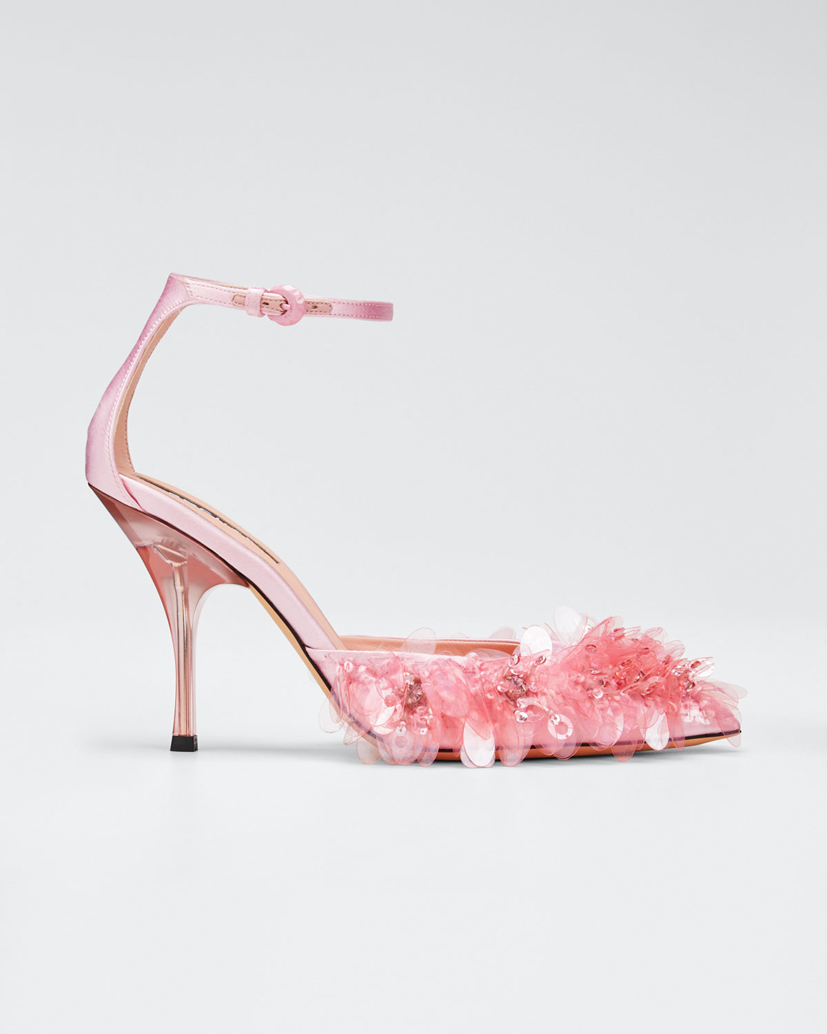Rochas Pumps EMBROIDERED ANKLE PUMPS