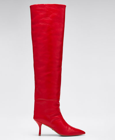 Millie Leather Over-The-Knee Boots