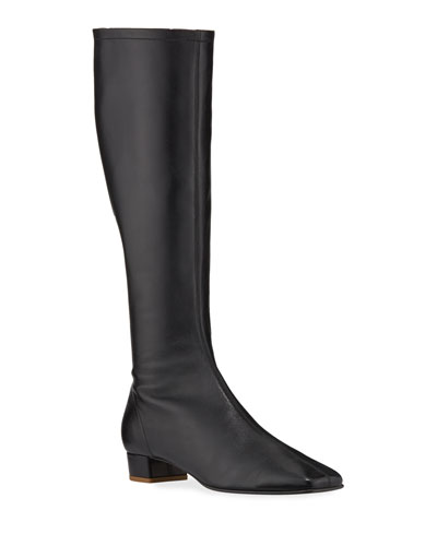 Edie Leather Knee Boots