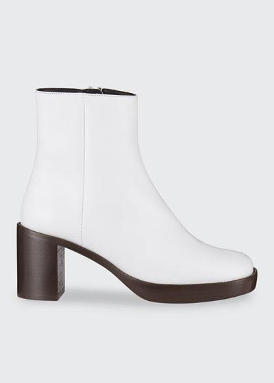 Ellen Leather Zip Booties