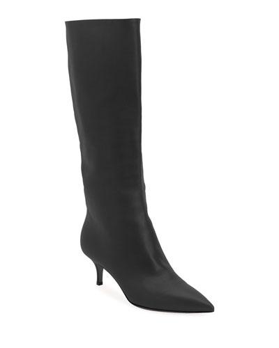 Lamb Leather Mid-Calf Boots