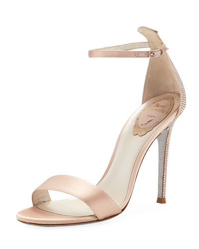 Simple Satin Embellished Sandals