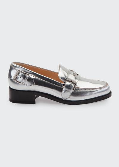 Monmoc Metallic Leather Loafers