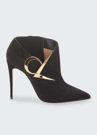 CL Suede Red Sole Booties
