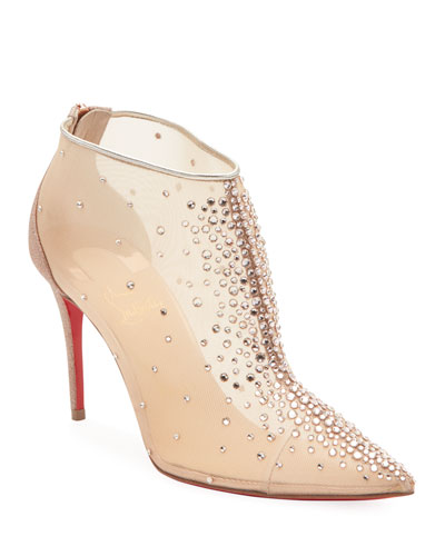 Contella Embellished Red Sole Booties