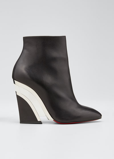 Leviti Zip Red Sole Booties