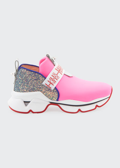 Lipsy Run Glitter Red Sole Sneakers