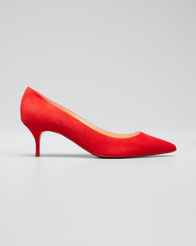 Kate Suede Red Sole Pumps