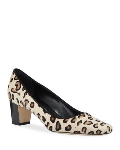 Okkatopla Leopard-Print Fur Pumps