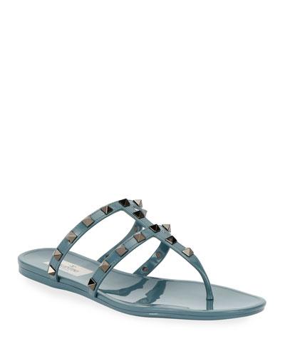 Summer Rockstud Jelly Sandals