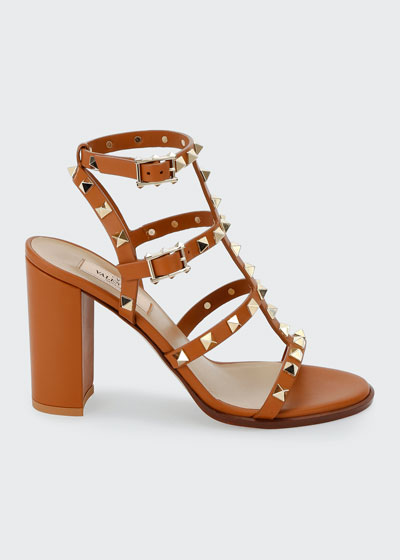 Rockstud Caged Leather 90mm City Sandals