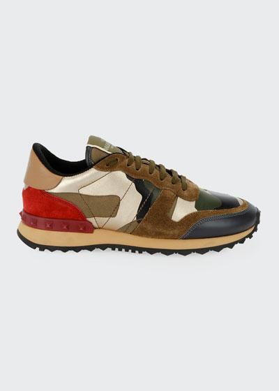 Rockrunner Camo Flat Sneakers