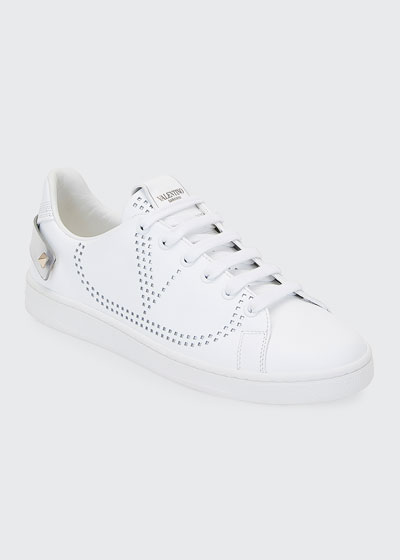 Backnet Low-Top Sneakers with Metallic Rockstud Tab