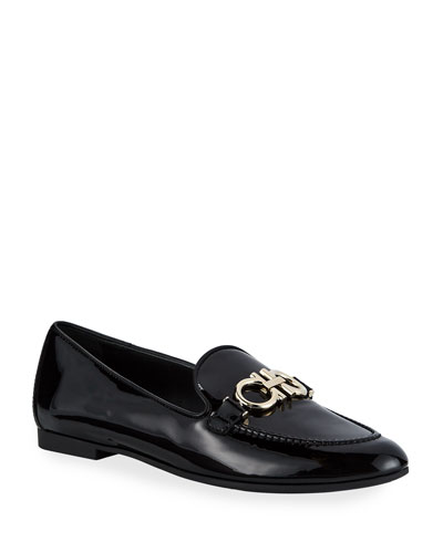 Trifoglio Patent Gancini Horsebit Loafers