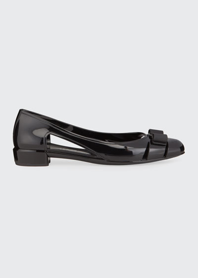 Jelly Cutout Vara Bow Flat