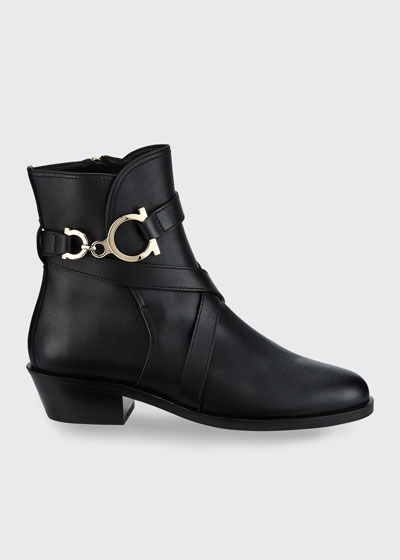 Shadi Gancini Leather Booties