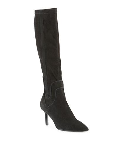 Mariel Suede Knee Boots