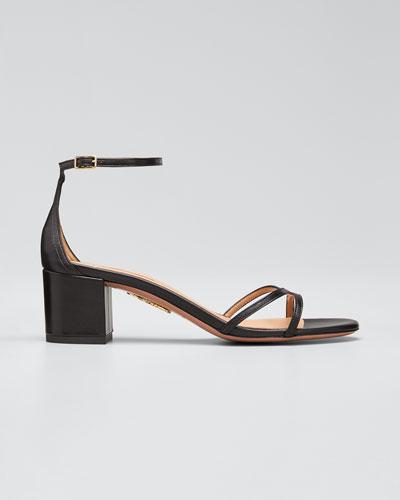 Suede Block-Heel Sandals