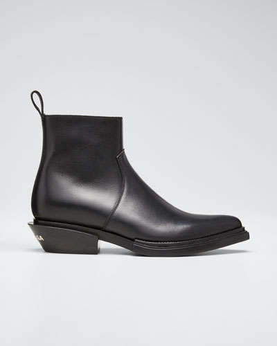 Santiag Leather 40mm Booties