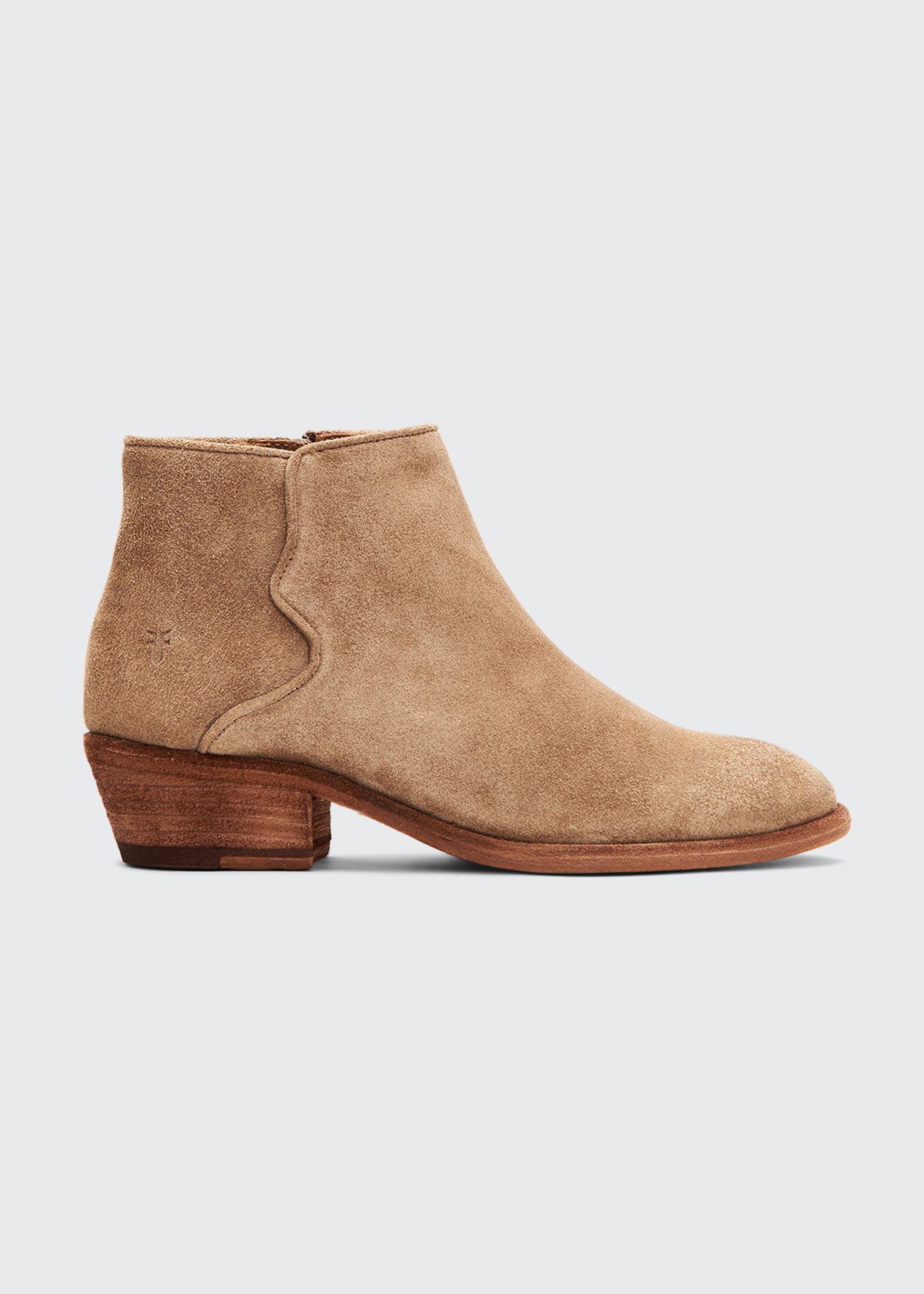 Frye Boots CARSON PIPING SUEDE BOOTIES
