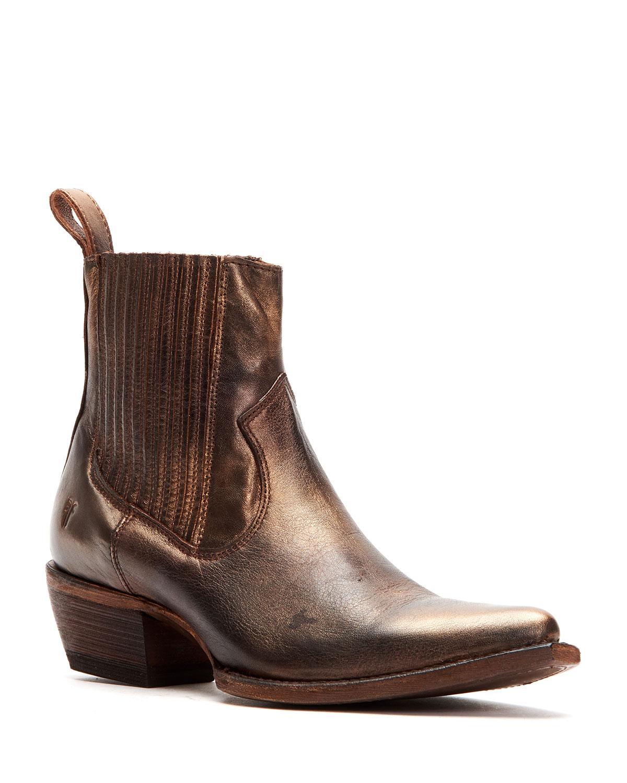 Frye Boots SACHA CHELSEA BRONZED BOOTIES