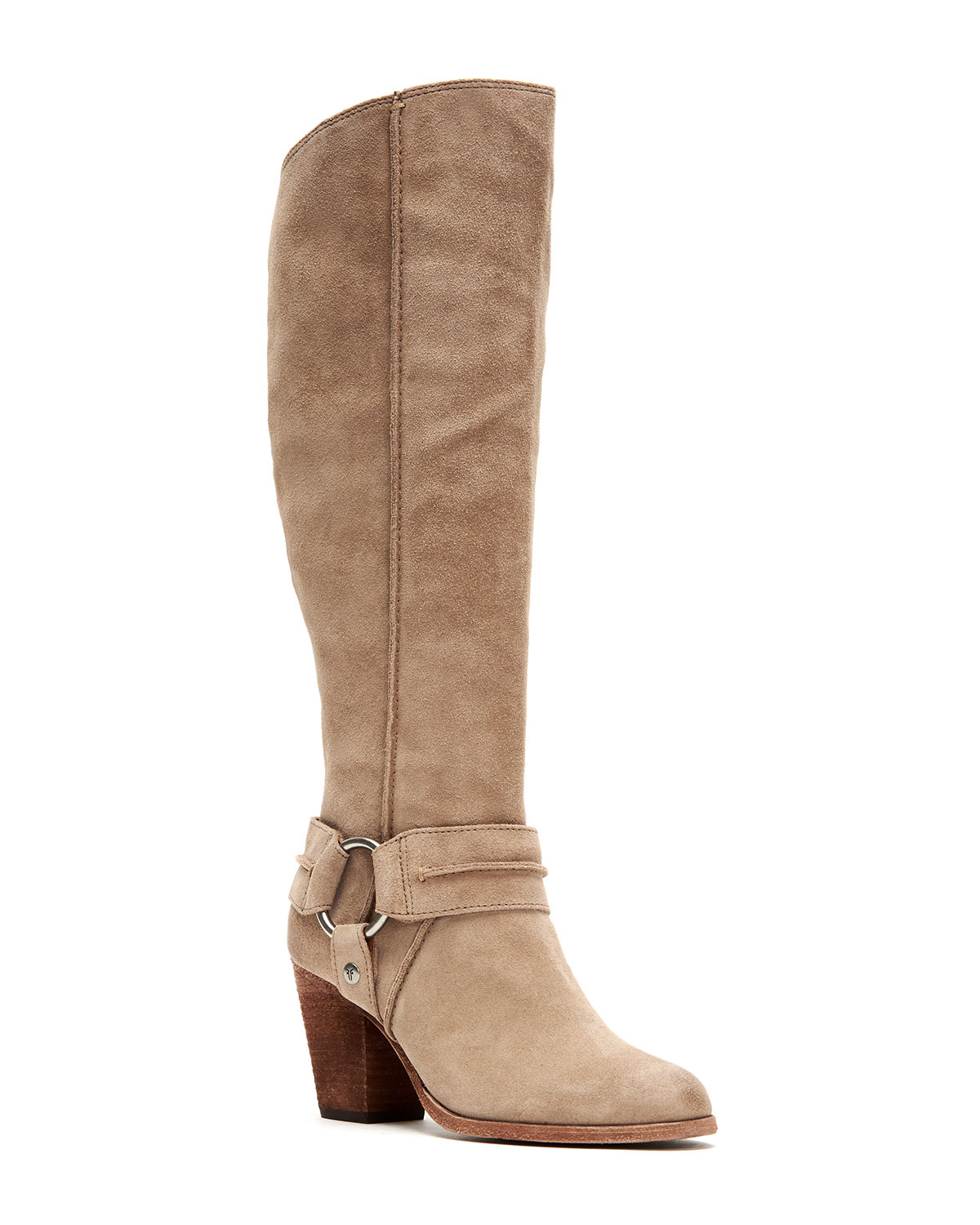 Frye Boots ESSA TALL SUEDE MOTO HARNESS BOOTS