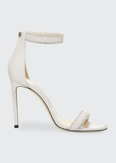 Dochas Jeweled Leather Sandals