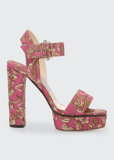 Maie Brocade Platform Sandals