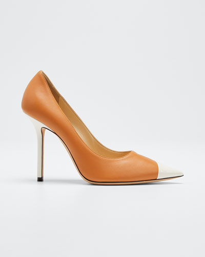 Love Asymmetric Cap-Toe Pump