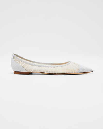 Love Fine Glitter Tulle Ballet Flats
