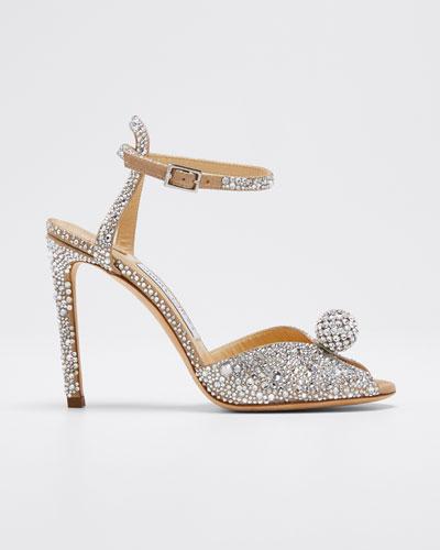 Sacora Shimmer Suede Sandals