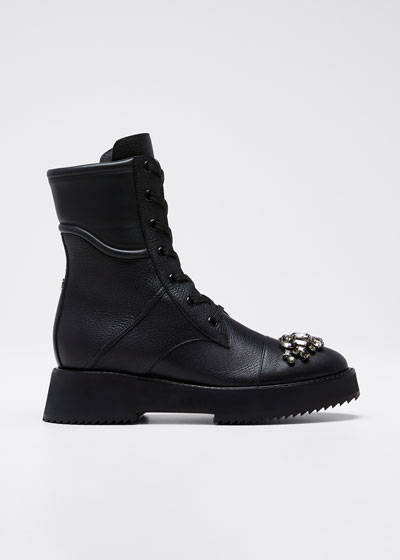 Hadley Leather Combat Boots