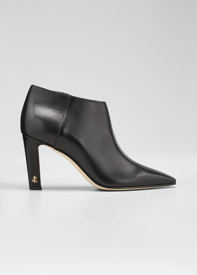 Merche Soft Leather Low-Cut Booties