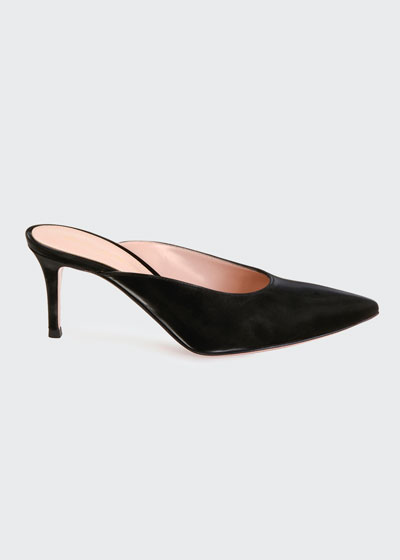 Vinyl Slide Pointed Mules