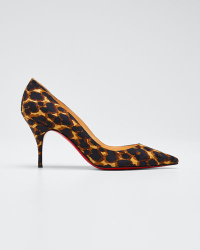 Clare Leopard-Print Red Sole Pumps