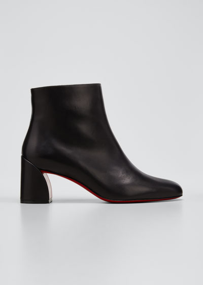 Turela Leather Side-Zip Red Sole Booties